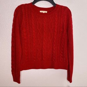 NWT Copper Key Red Cable Knit Sweater